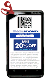 Bed Bath And Beyond Coupon Text Message