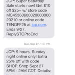 JCP SMS offers