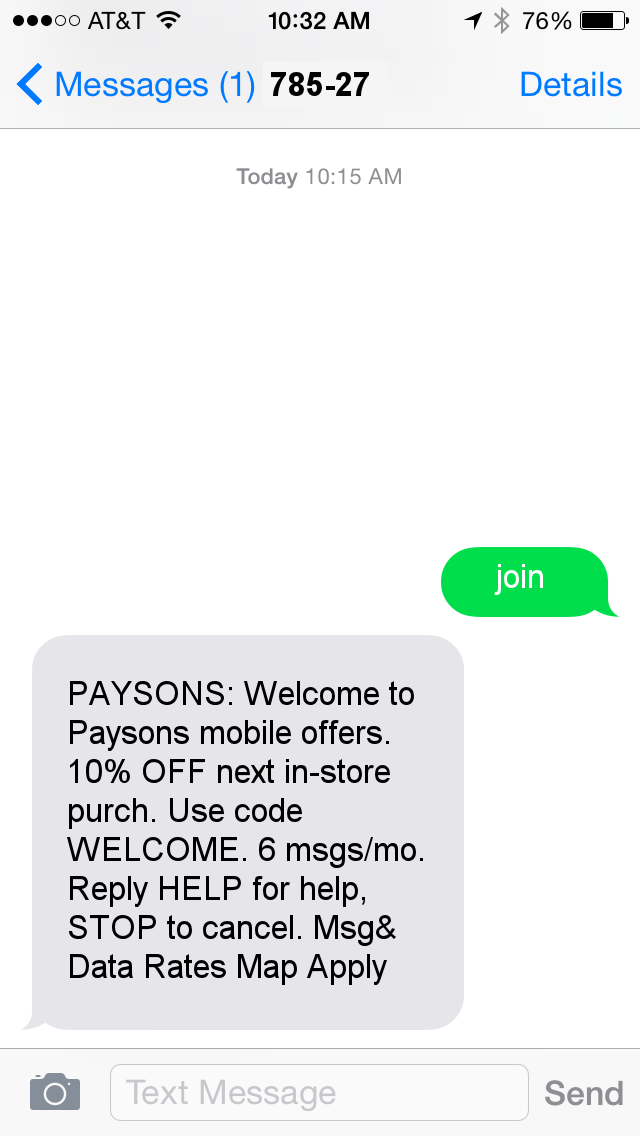 text message promotions 3