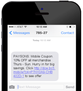 omnichannel promotion text message