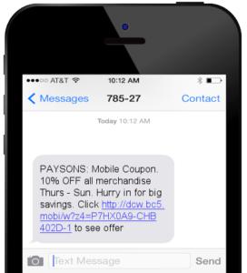 omnichannel promotion text message