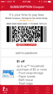 Many of the same special offers on Target mobile coupons can be used at Target online too. Many of the mobile Target Coupons can be viewed in the Target Weekly Ad Previews; You CANNOT use a Target mobile coupon offer more than once. It is a single use coupon unless otherwise noted.