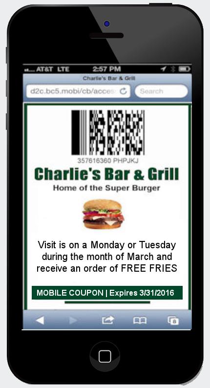 mobile marketing software for restaurants coupon