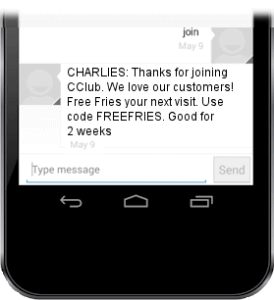 CodeBroker Mobile Engagement Coupon