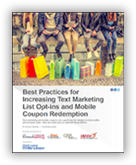 research reports and consumer insights on coupon marketing, text message marketing software, mobile rewards programs
