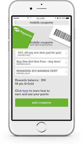digital coupon wallet retailers send customers mobile coupons, digital offers, and loyalty program rewards