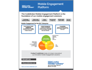 Product Sheet: Mobile Engagement Platform