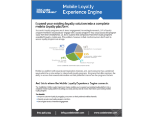 Product Sheet: Mobile Loyalty Experience Engine