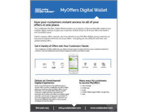 Product Sheet: MyOffers Digital Wallet