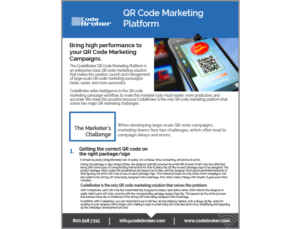 Product Sheet: QR Code Marketing Platform
