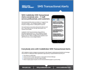 Product Sheet: SMS Transactional Alerts