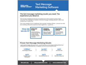 Product Sheet: Text Message Marketing Software